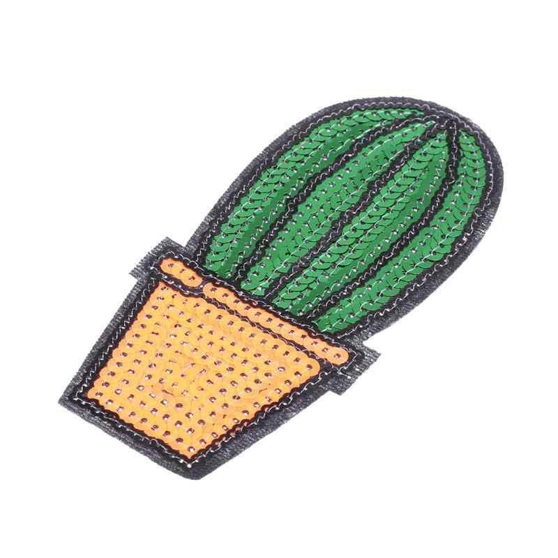 Кактус мультфильм наклейки Швейные нашивки детская одежда значки вышивка шитьё заплатка для одежды Сумочка Sequines Акссесуары для укрепления