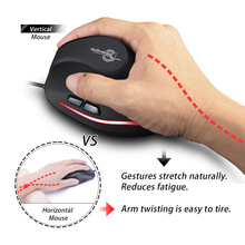 T-20 Mouse Wired Vertical Mouse Ergonomic Rechargeable 4 3200 DPI Optional Portable Gaming Mouse for Mac Laptop PC Computer
