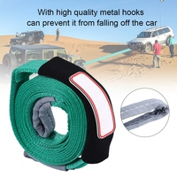 Towing Rope 5m/16ft 5Tons Car Towing Rope Strap Tow Cable with Hooks Emergency Heavy Duty Towing Trailer High strength polyester