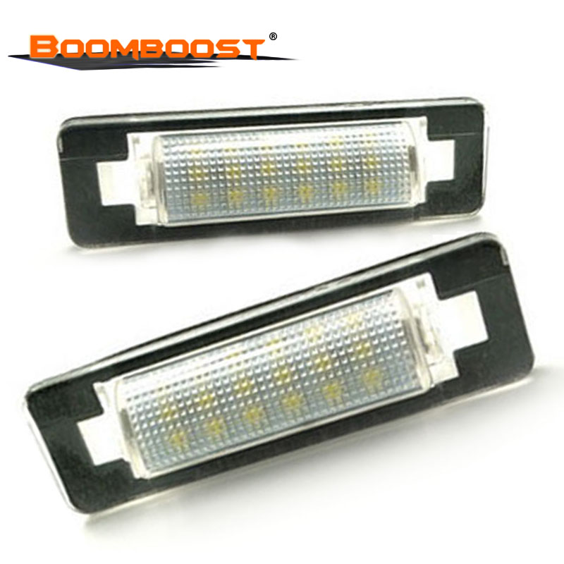 2pcs Car <font><b>LED</b></font> Number License Plate Lamps OBC 3528 SMD For Benz W210 <font><b>W202</b></font> E300 E55 C230 C43 AMG 18 <font><b>LED</b></font> image