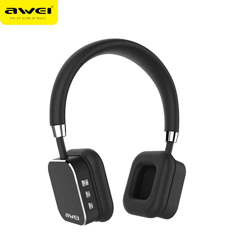 Awei A900BL Wireless bluetooth Headphone Stereo Music Headset Handfree Aviation Metal Headphone with Microphone for PC Laptop