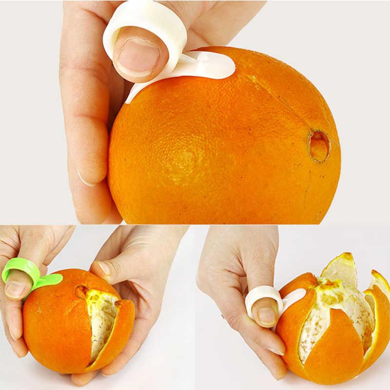 1 Pcs Gadget Dapur Memasak Alat Pengupas Mesin Pengupas Jari Jenis Terbuka Kulit Jeruk Orange Perangkat