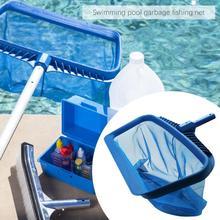 Professional Swimming Pools Skimmer Net Rubbish Cleaning Rake Leaf Mesh Deep Bag Pool & Accessories 2019