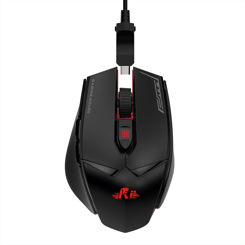 ergonomic 4 Breathing lights Adjustable DPI 6 buttons Gaming Mouse