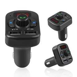Автомобиль MP3 аудио плеер FM передатчик Bluetooth 5,0 вызовов двойной зарядное устройство USB мобильный телефон зарядное устройство автомобиль