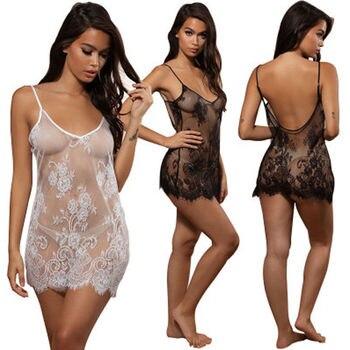 86efecc2b56e9 Femmes dentelle Sexy Lingerie de nuit sous-vêtements G-string Lingerie de  nuit babydoll robe