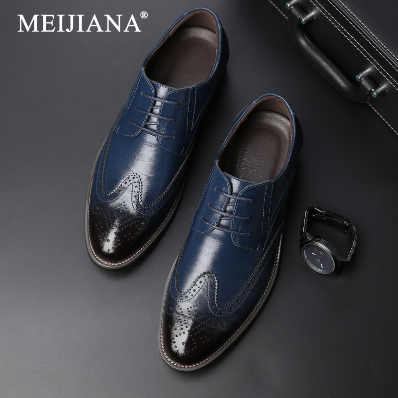 Schuhe Shoes Dress Oxford Business Lace 38-47 Shoes Mens Quality Male Brogue Plus Up Casual Size Gentleman Party High Summer Oxford Attraktive Designs;