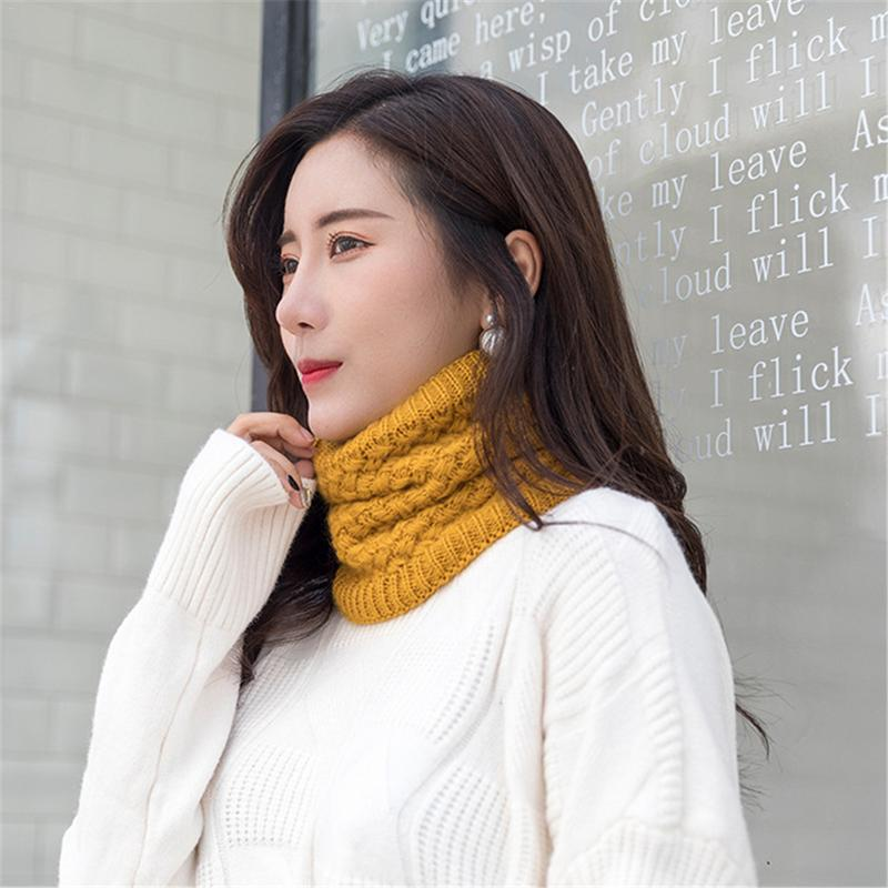Ladies Knitted Infinity Warmer Snood Scarf Women Men Soft Warm Neck