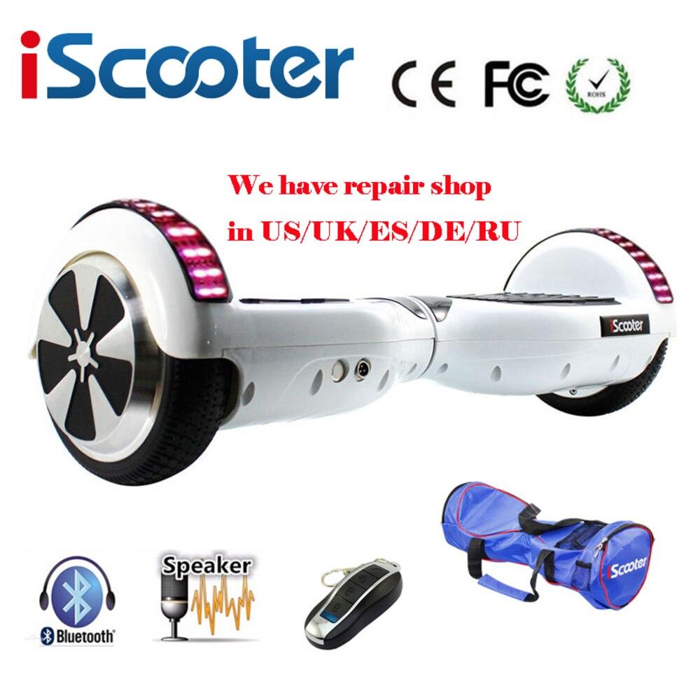 Iscooter Bluetooth Hoverboard partie Ul2272 volant intelligent auto Balance Scooter électrique planche à roulettes sac de transport cadeau pour garçon