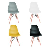Thicken Nordic dining table and chairs modern minimalist creative computer office chair casual home back plastic coffee chair