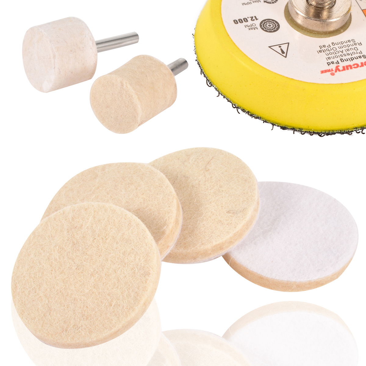 Wool Felt Polishing Pad/wheel Kit Tool 150/320/600/1000/3000 Grit Sanding Discs Responsible Glass Polishing Set 8 Oz Cerium Oxide Powder