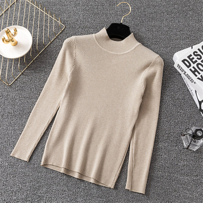 Winter Knitting Sweater Pullovers Women Long Sleeve Tops Turtleneck Knitted Sweater Chic Woman Clothes Female Casual Streetwear #2