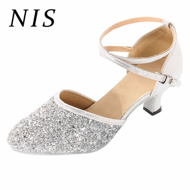 High Heels Latin 5cm 5 Ankle Strap Tango Women Buckle Woman Mujer Thin Salsa Shoes Sparkly Zapatos Pumps Nis Dancing New ZOPkiXu