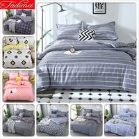 Blue Nigh Stars Pattern 3/4 Pcs Bedding Set Adult Kids Child Soft Cotton Bed Linens Single Full Queen King Size 150x200 200x230