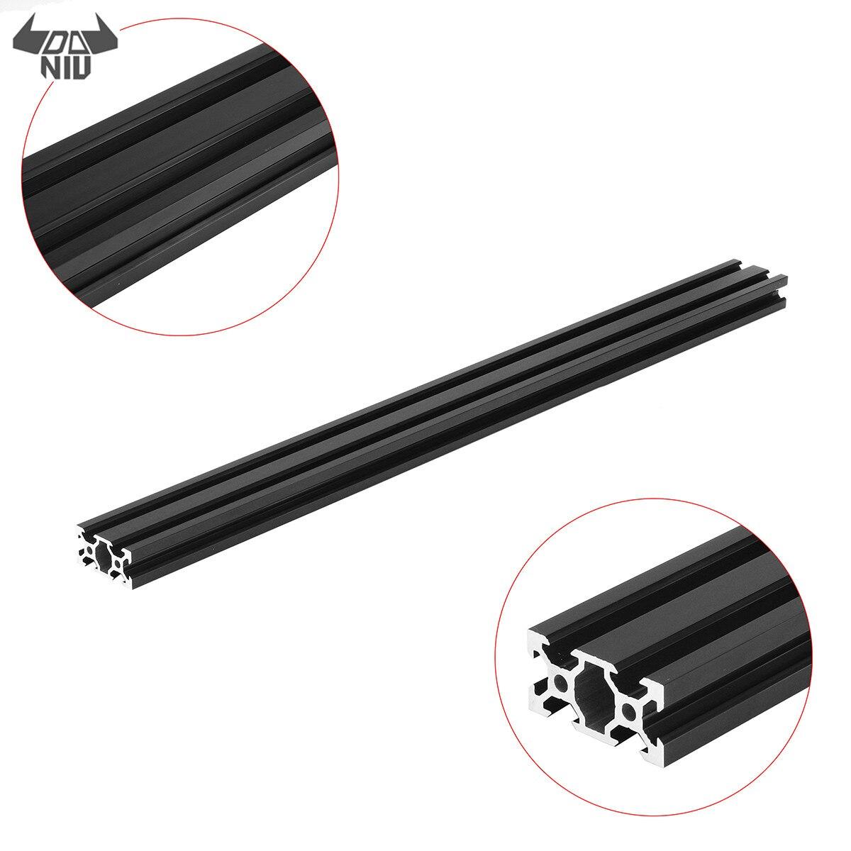 DANIU Durable 500mm 2040 v-slot aluminium profilé Extrusion cadre bricolage CNC outil noir