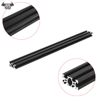 DANIU Durable 500mm 2040 v-slot perfil de aluminio extrusión marco DIY CNC herramienta negro