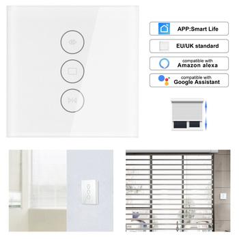 WiFi elektryczne rolety przełącznik dotykowy APP sterowania głosem przez Alexa Echo AC110 do 250V dla krańcowymi rolety silnik tanie i dobre opinie 110-240 v 800W Wifi Curtain Switch
