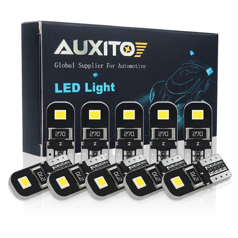 Светодиодная лампа AUXITO W5W T10 Canbus, 194 светодиодный для Peugeot 206, 406, 508, 307, 406, 3008, аксессуары для салона автомобиля, верхнее освещение, лампы для чте...