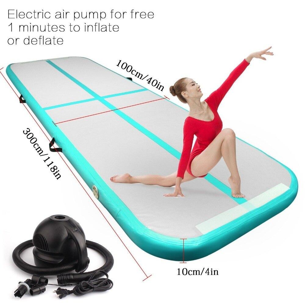 Piste gonflable de Trampoline d'air de Yoga de culbuteur d'airtrack de gymnastique de 2018 pour l'usage à la maison