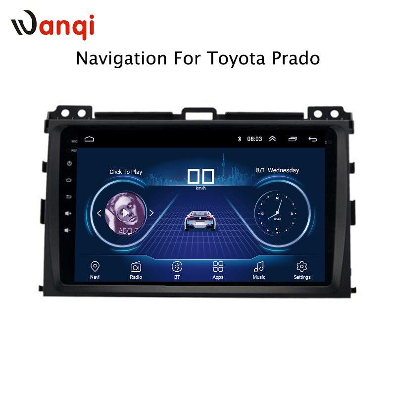 9 pouce Android 8.1 Pour Toyota Prado 2004-2009 HD Lecteur DVD de Voiture GPS Radio Navigation soutenir la caméra arrière CFC