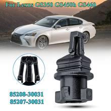 2X Ön Far far yıkayıcı Memesi Kapağı Klipleri Lexus GS300 2006 GS350 2007-2011 GS430 2006-2007 GS450h 2008-2011