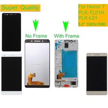 10Pcs/lot LCD For HUAWEI Honor 7 LCD Display Touch Screen Digitizer with Frame PLK-TL01H PLK-L01 PLK-UL00 PLK-AL10 LCD Assembly цены