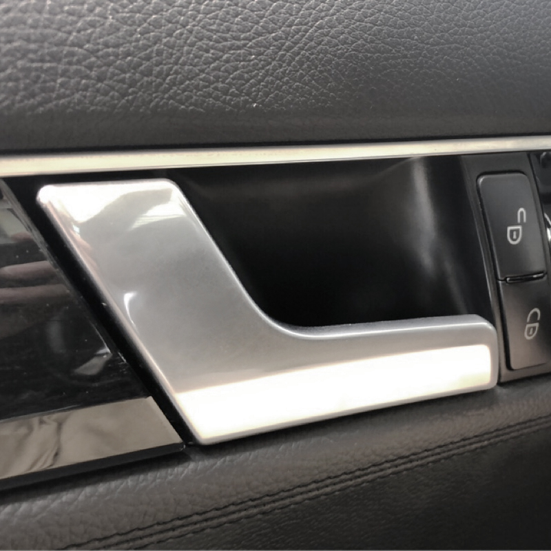 Image 3 - For Mercedes Benz C GLK Class W204 2008   2014 X204 Electroplated / Matte Chrome Interior Car Door Handle Buckle Cover-in Interior Door Handles from Automobiles & Motorcycles