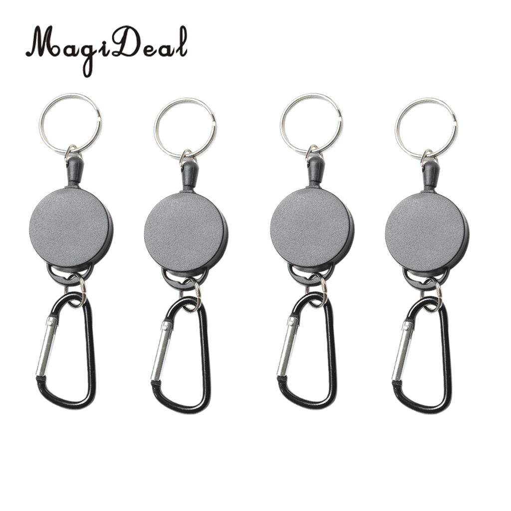 Office & School Supplies Badge Holder & Accessories Disciplined Retractable Metal Card Badge Holder Steel Recoil Pull Belt Clip Silver