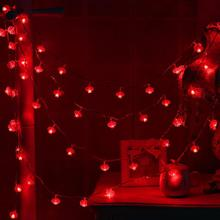 Traditional Red Lantern USB LED String Light Christmas Battery Operated Party Supplies Chinese New Year Decoration #0107