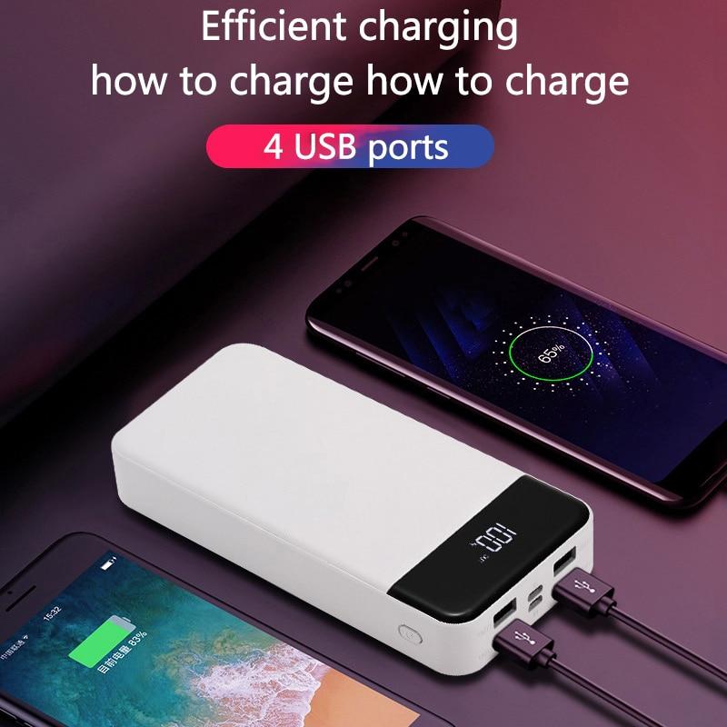 Batterie externe 30000 mah chargeur portable banque de pauvreté batterie externe accessoires de téléphone batterie externe pour téléphone pour xiaomi iPhone huawei