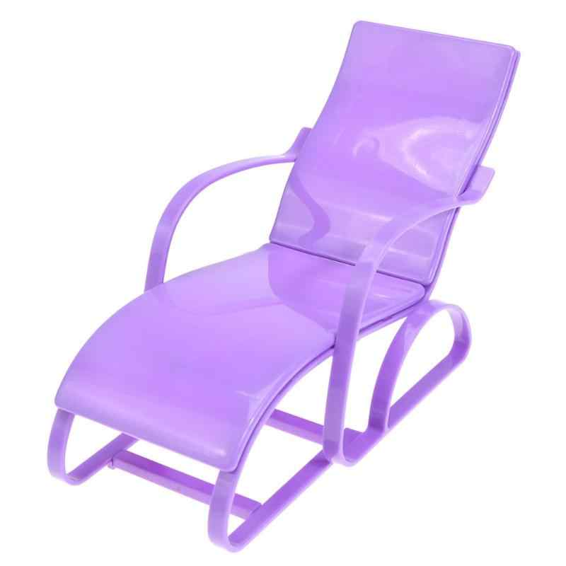 Качалка стул для пляжного отдыха для куклы розовые стулья дом мечты гостиная гардан аксессуары для кукол кукольная мебель кукольный домик Новый 1 шт. Горячая