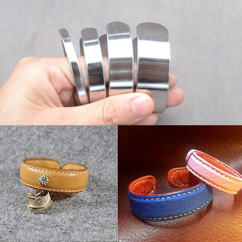 Us 1 24 37 Off 1pcs Handmade Diy Leather Bracelet Bracelet Stainless Steel Inner Core Vegetable Tanned Leather Ring Shaping Core 0 5 1 1 5 2cm In
