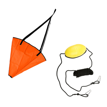 18' Drift Sock Sea Anchor Drogue + PVC 30' Feet Kayak Drift Anchor Tow Rope Tow Line Throw Line Boat Parachute Brake kayak boat accessories inflatable sea anchor float marine kayak drift anchor rowing sock brake boat fishing cano