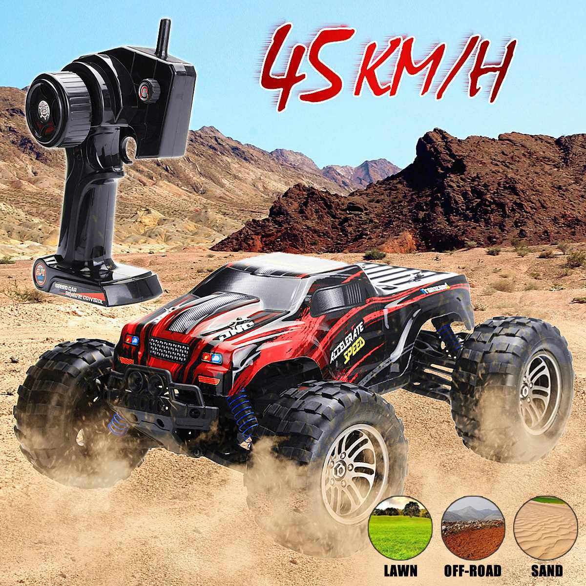 Remote Control 4WD Off-Road Monster Truck High Speed RTR RC Car Drift Field Buggy Toy 1:12 2.4GRemote Control 4WD Off-Road Monster Truck High Speed RTR RC Car Drift Field Buggy Toy 1:12 2.4G