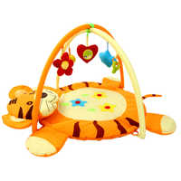 Orange Baby Activity Gym Fitness Frame Educational Cartoon Tigers Shape Newborn Crawling Mat Fitness Rack Playmat Toy For Gift