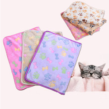 Cartoon Cat 1PC Fleece For Dog Flannel Hot Sale Cover Mat Warm Sleeping Bed Soft Star Print Pet Blanket Dog Bed Pet Supplies(China)
