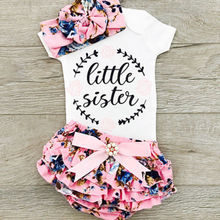 цены Newborn Kid Baby Girl Outfit Floral Clothes Romper Jumpsuit Bodysuit+Pants Set Infant Baby Girls Clothes