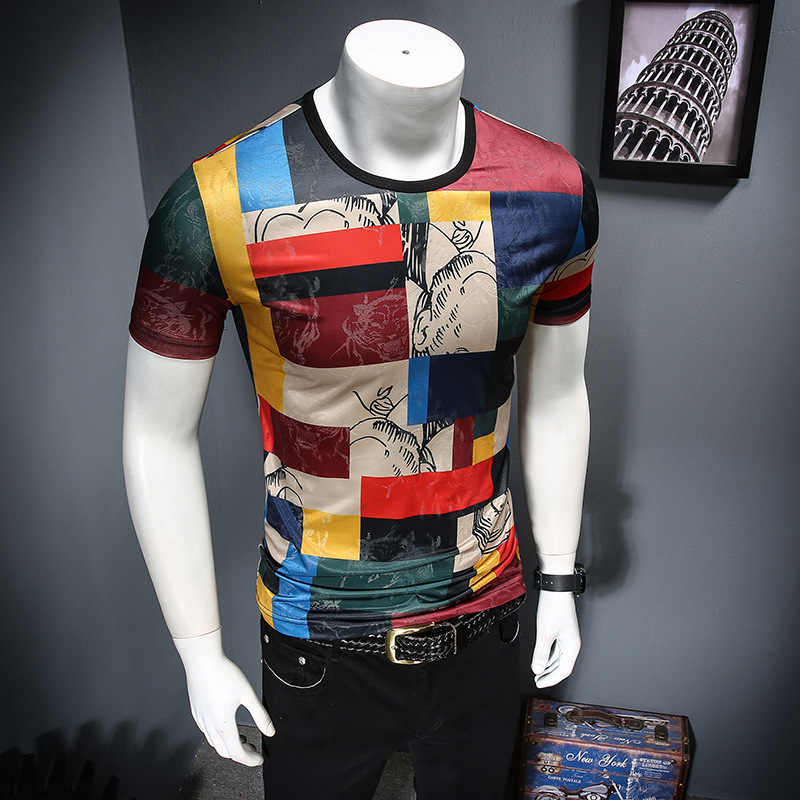 2019 t camisa masculina gelo sentiu manga curta clube festa t camisa design impressão verão respirável casual t-shirts streetwear topos