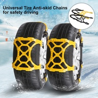 6pcs Car Snow Tire Anti skid Chains Wheel Antiskid Universal Winter Roadway Safety Tire Chain Snow Climbing Mud Hot