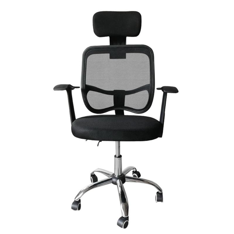 Home Office Chair Mesh Back Gas Lift Back Tilt Adjustable Office Swivel Chair With Headrest And Armrests Computer Chair Black