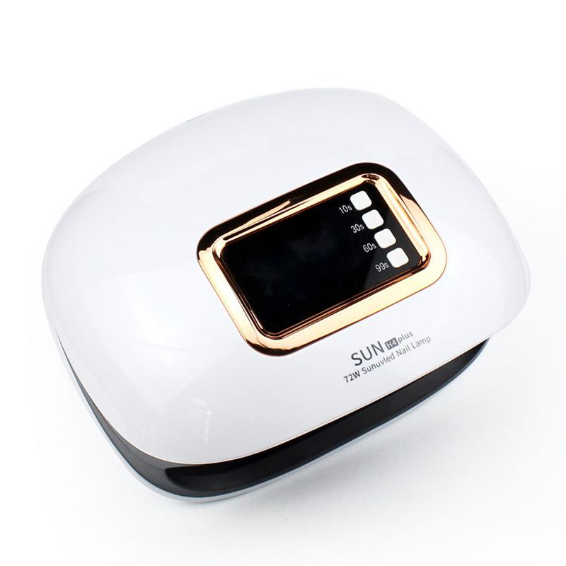 Nail Dryer For Manicure Nails UV LED Nail Lamp 72W Curing Gel Polish Varnish Machine With Timer 10s 30s 60s 99sNail Dryer For Manicure Nails UV LED Nail Lamp 72W Curing Gel Polish Varnish Machine With Timer 10s 30s 60s 99s
