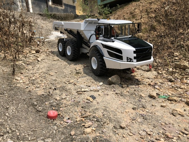1/14 rc scharnierbare dumper hydraulische dump truck/rc dump truck