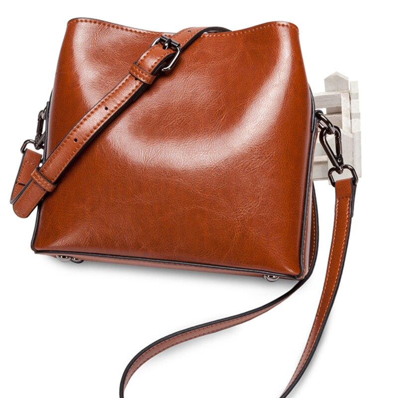 Retro Koe Split Lederen Kleine Tas Vrouw Vierkante Flap Messenger Bag Zip Crossbody Mode Tas Bucklet Riem Handtas Dames - 5