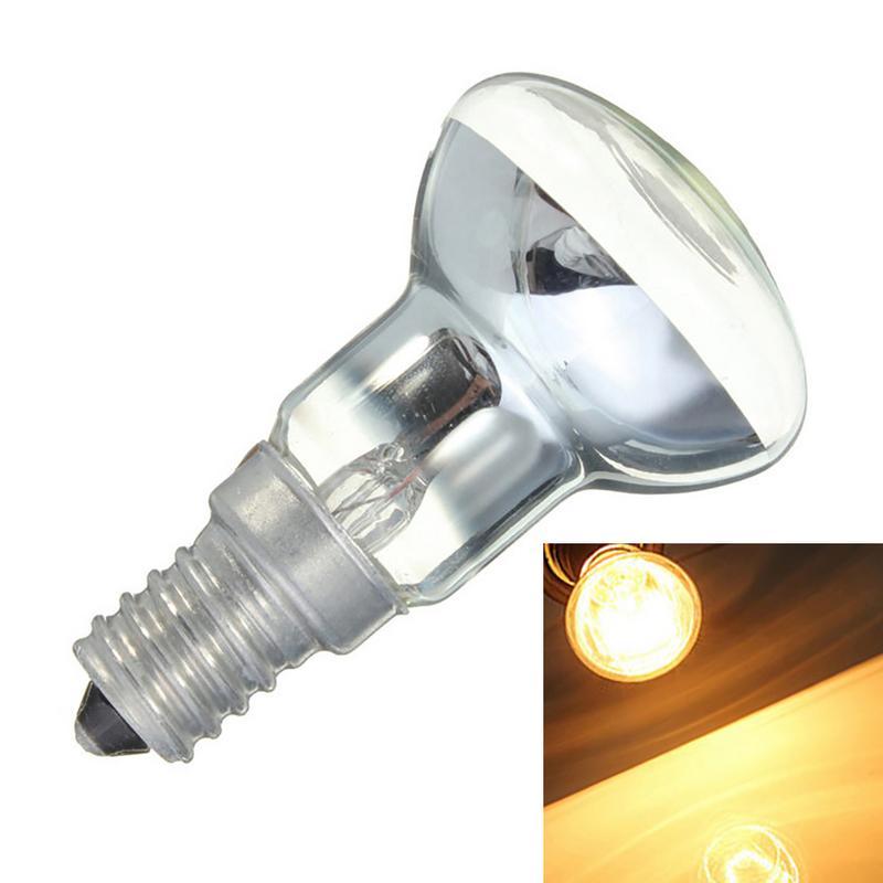 Bombilla Edison 30W E14, soporte de luz R39, Bombilla para foco, lámpara de Lava, filamento incandescente, lámpara Vintage, suministros para el hogar Bombilla halógena GU10, 20W, 35W, 50W, Bombilla de gran brillo, 2800K, luces de cristal transparente de alta eficiencia, bombillas de luz blanca cálida para el hogar