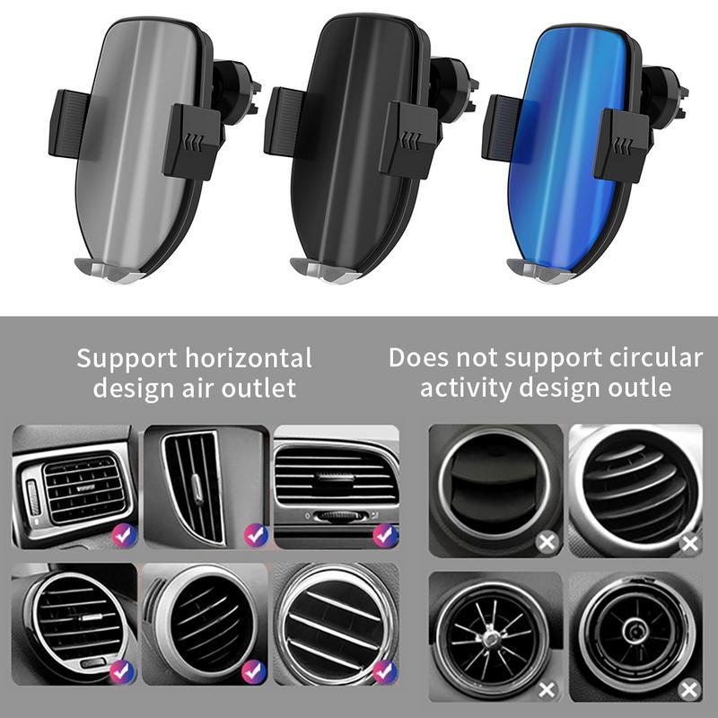 Chargeur universel sans fil de voiture Qi pour iPhone Xs Max XR X Samsung capteur infrarouge rapide sans fil chargeur de support pour téléphone de voiture