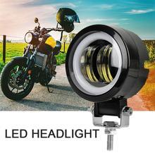 купить Motorcycle Angel Eyes Headlight LED Work Light Strip Light Motorcycle Fog Lamp With Aperture 20W Square Light дешево