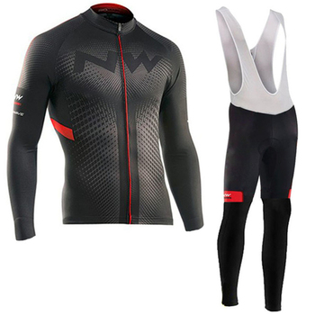 Northwave 2019 Spring and Autumn Jersey Suit Maillot Ropa Ciclismo Long Sleeve Mountain Bike Suit Breathable Bike Wear
