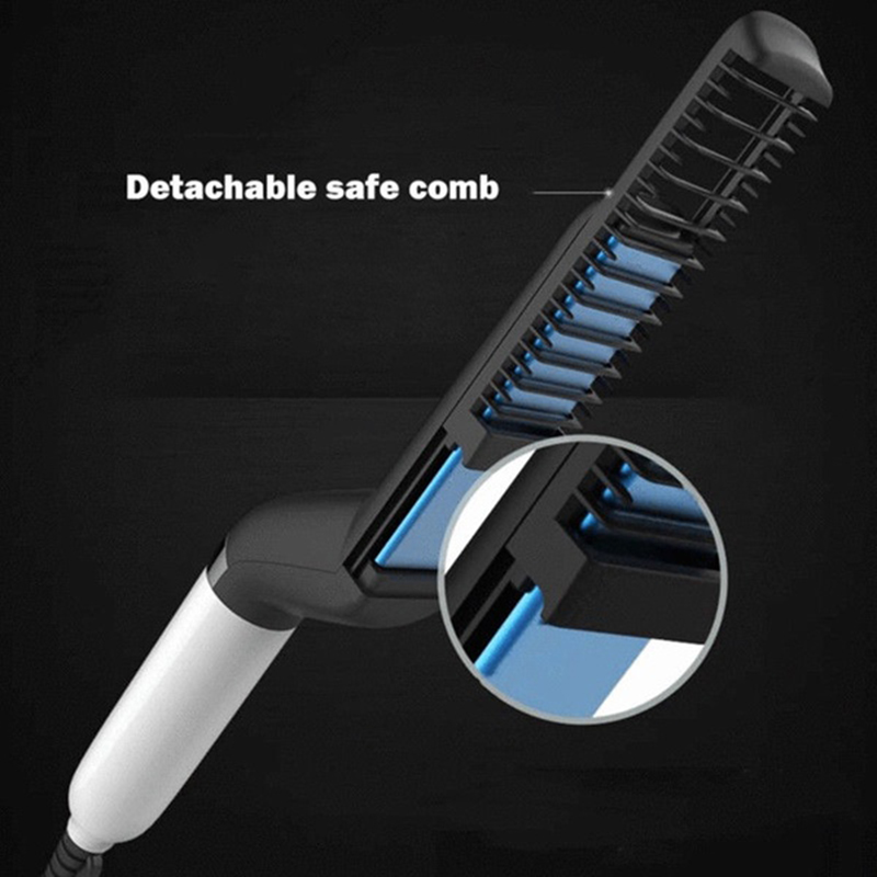 Multi-Functional Shape Comb Hair Beard Combing Electric Combing Straight Hair Tool Us Plug