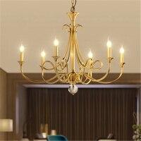 מודרני LED נברשת 100% נחושת Custom סלון נברשת חדר שינה תאורת פנים דקור תליית מנורות מטבח גופי