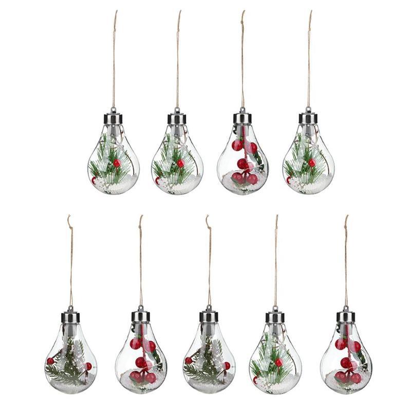 Colorful Soft Plastic Clear LED Christmas Light Bulb Ball ...